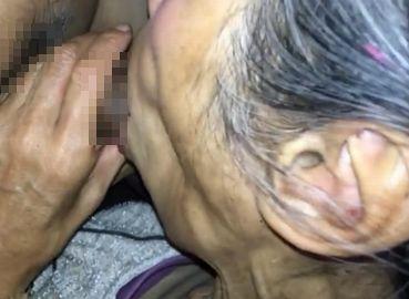 個人撮影 日本人の70代おばあちゃんとカーセックス!